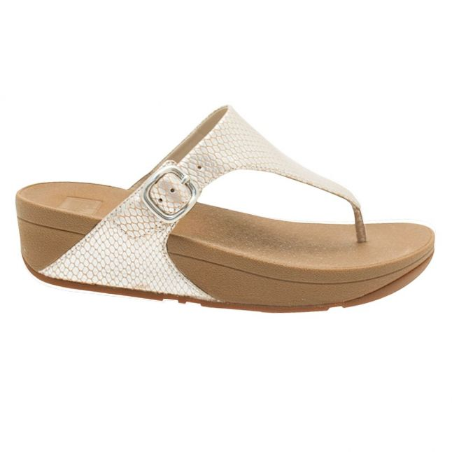 Fit Flop Womens Silver Snake The Skinny Sandals