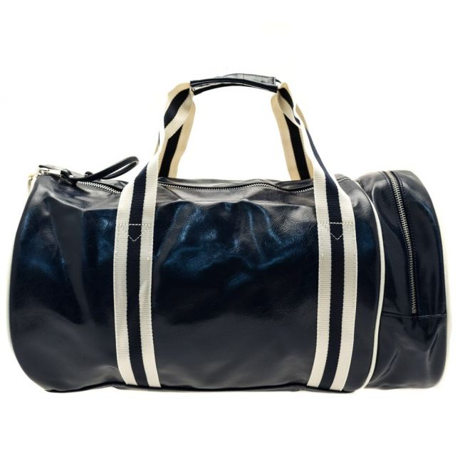 Mens Navy & Ecru Classic Barrel Bag