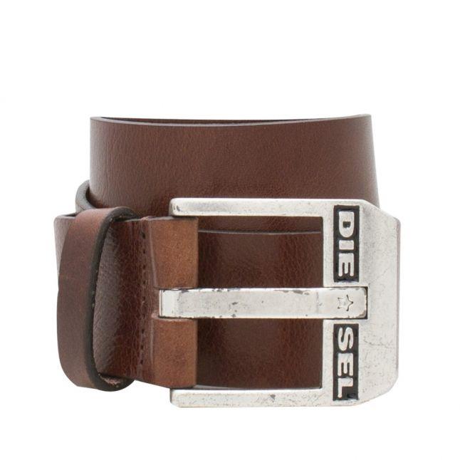 Mens Chestnut Brown Bluestar Leather Belt