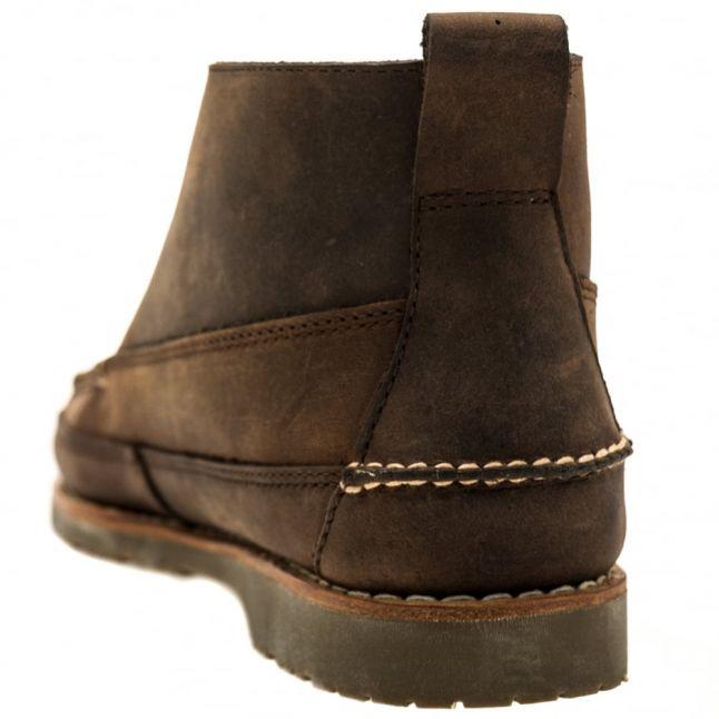 Mens Dark Brown Camp Moc II Ranger Mix Boots