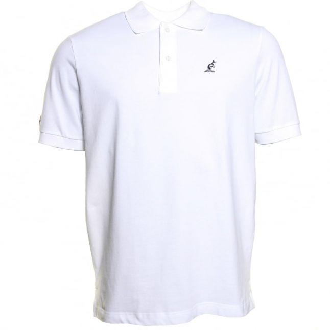 Mens White Chest Logo S/S Polo Shirt