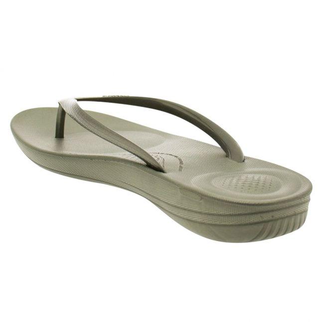 Fit Flop Womens Dark Olive Iqushion Flip Flops