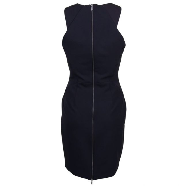 Womens Black Modern Kantha Crepe Dress