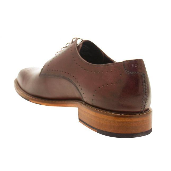 Mens Dark Red Marar Leather Shoe