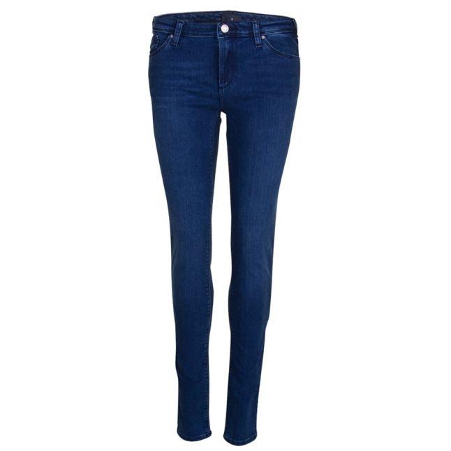 Womens Blue J28 Embellished Pocket Skinny Jeans