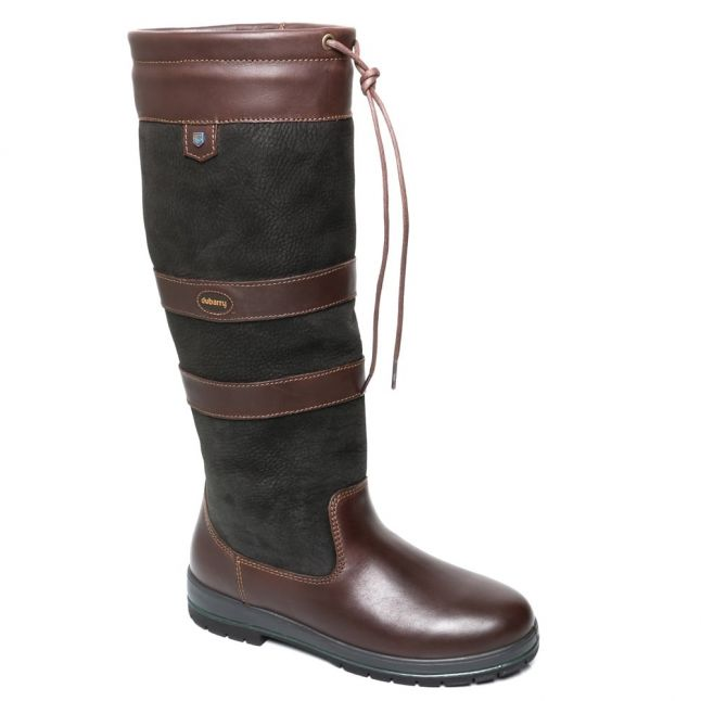 Womens Black & Brown Galway Boots