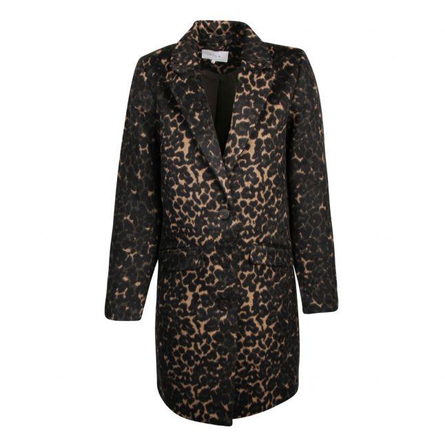 Womens Forest Night Vileovita Leopard Coat