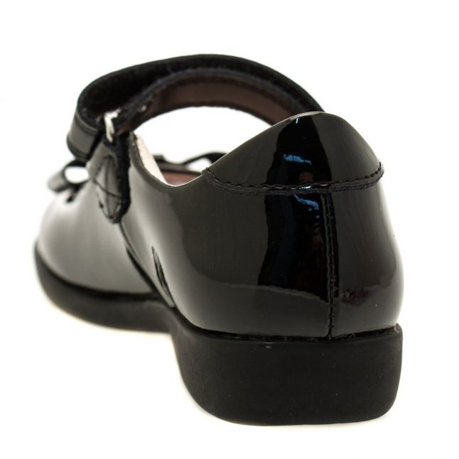Girls Black Patent Perrie E-Fit Shoes (27-33)