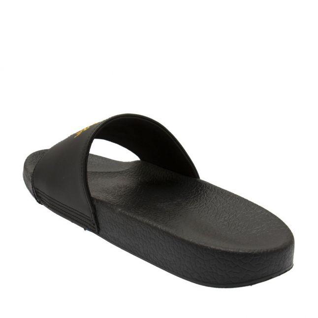 Mens Black Branded Slides