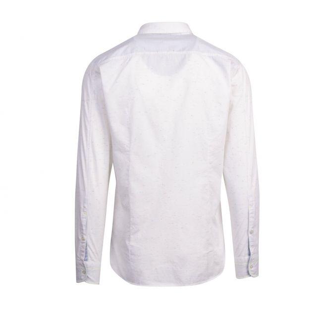 Casual Mens White Magneton_1 Textured L/s Shirt