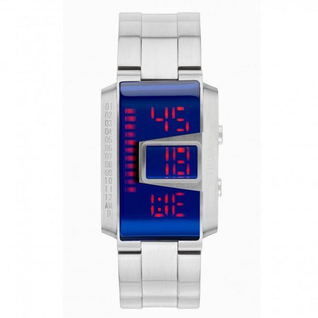 Mens Lazer Blue Dial Silver MK4 Circuit Watch
