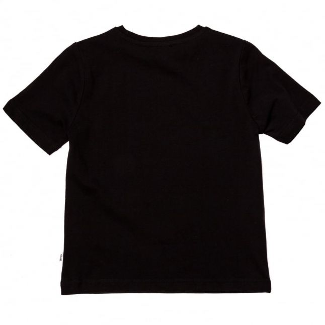 Boys Black Graphic Logo S/s Tee Shirt