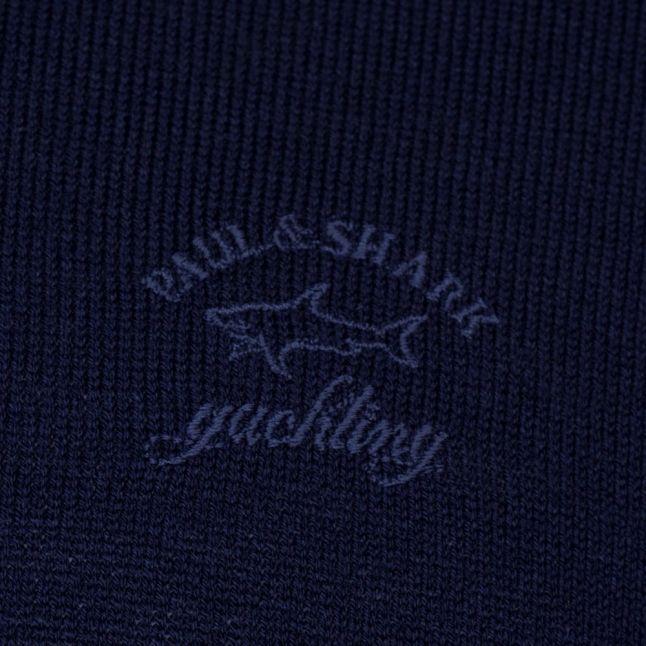 Paul & Shark Mens Navy Shark Fit Jumper