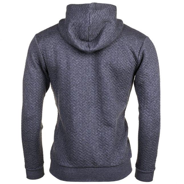 Mens Medium Grey Loungewear Quilted Hooded Sweat Top