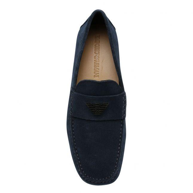 Mens Blue Driver Mocassin Shoes