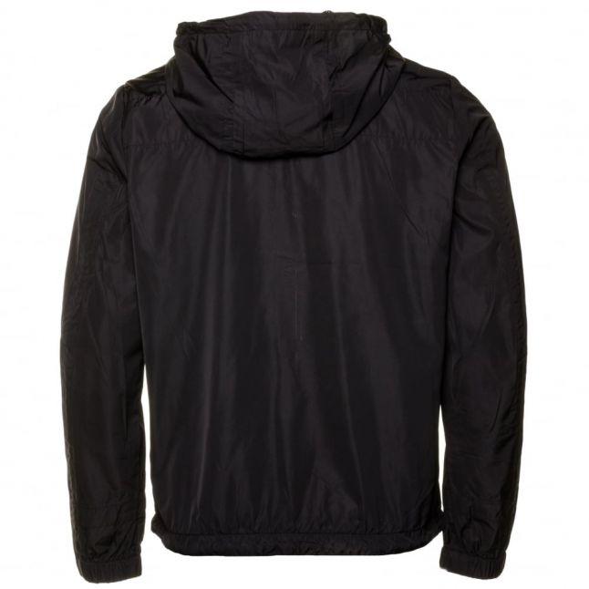 Mens Black J-Azzerad Zip Hooded Jacket