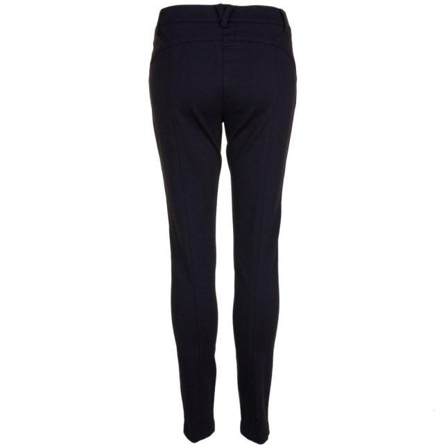 Womens Black Zip Detail Skinny Pants