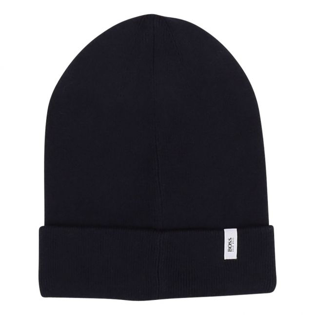 Boys Navy Branded Patch Knitted Hat