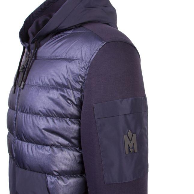 Mens Navy Will Padded Hooded Jacket