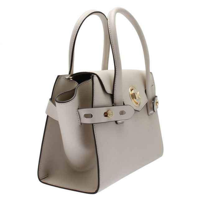 Womens Light Sand Carmen Small Belted Tote Bag