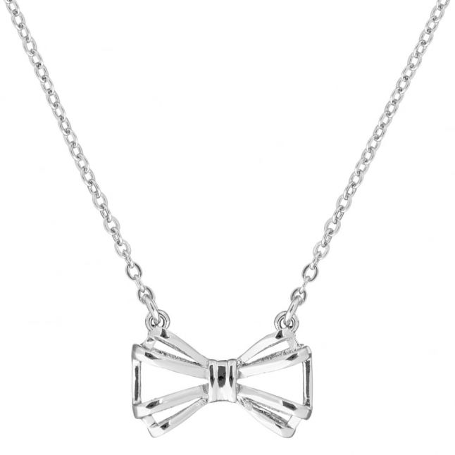 Womens Silver Signy Bow Necklace