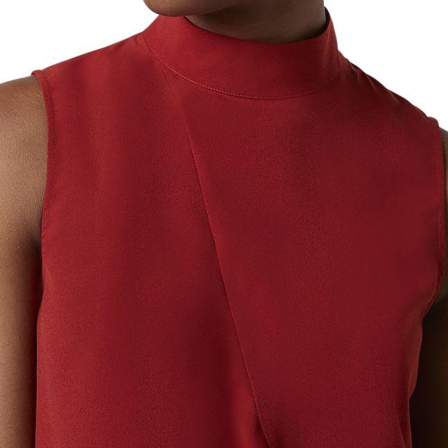 Womens Red Orange Abena Light Sleeveless Top