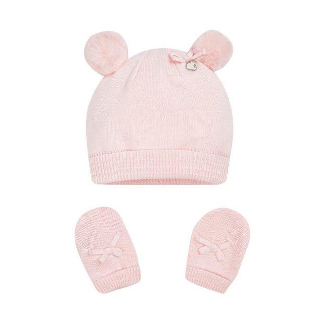 Baby Rose Star Pom Hat + Mittens Set