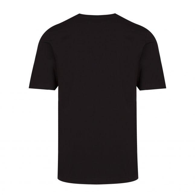Mens Black Text Reversed Logo S/s T Shirt
