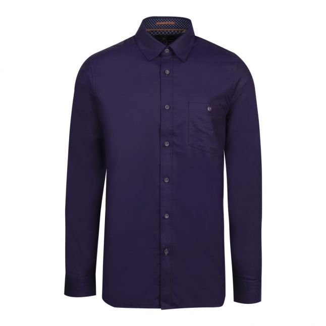 Mens Navy Yesway Oxford L/s Shirt