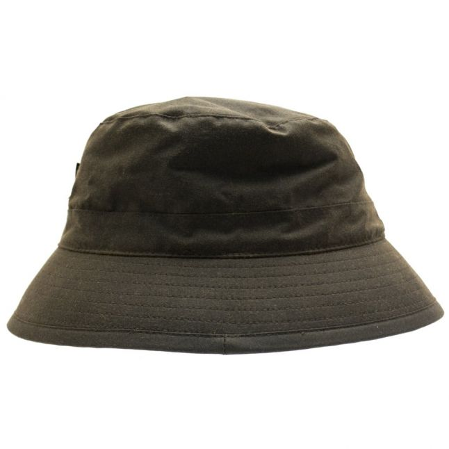 Lifestyle Mens Olive Waxed Sports Bucket Hat