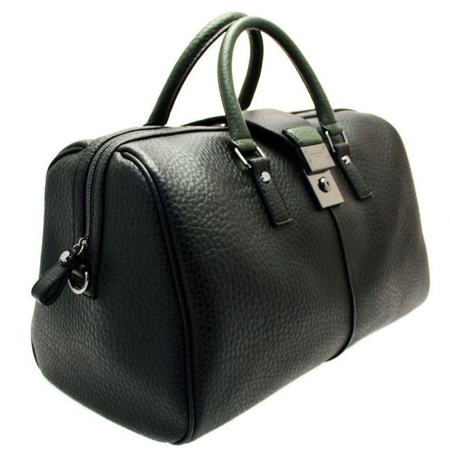 Mens Black Larkup Pebble Grain Holdall Bag