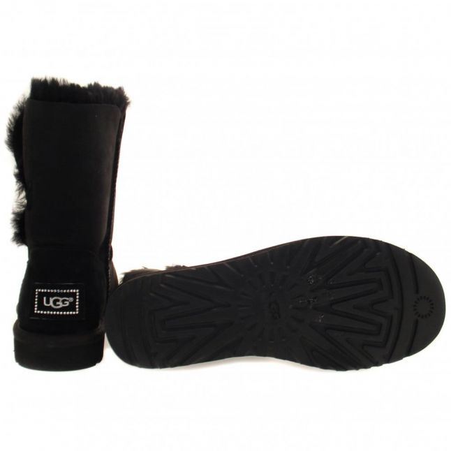 Womens Black Bailey Button Bling Boots