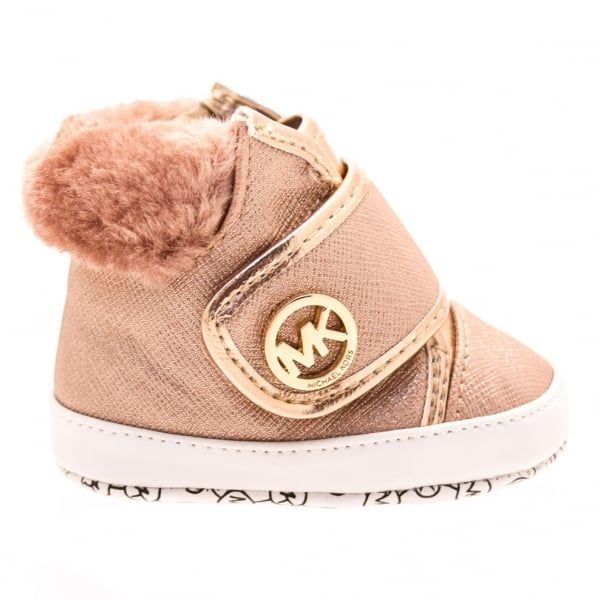 Baby Rose Gold Zia Nell Hi Top Trainers (16-19)
