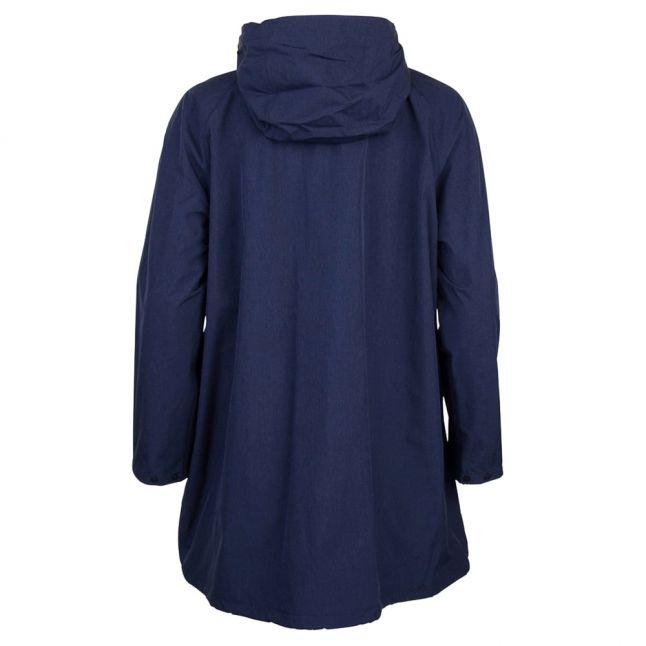 Heritage Womens Navy Bedale Long Hooded Jacket