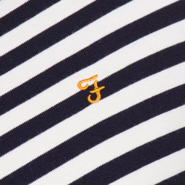 Mens True Navy Ally Stripe L/s Tee Shirt
