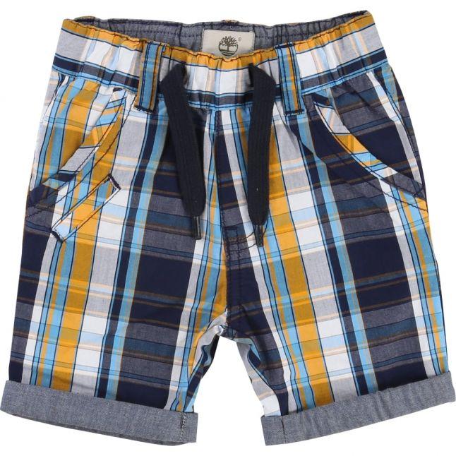 Boys Blue Indigo Check Shorts