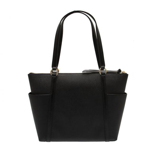 Michael Kors Womens Black Nomad Medium Top Zip Tote Bag