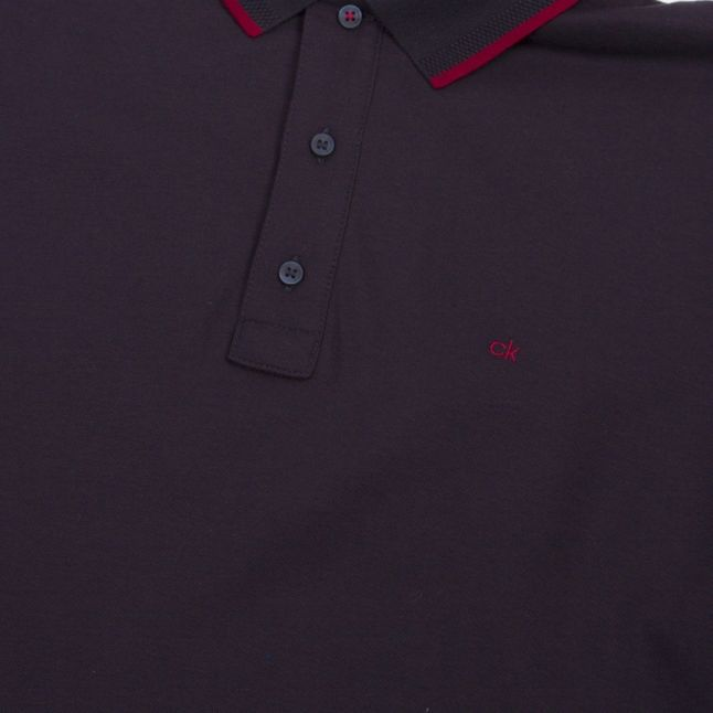 Mens Navy Refined Pique S/s Polo Shirt