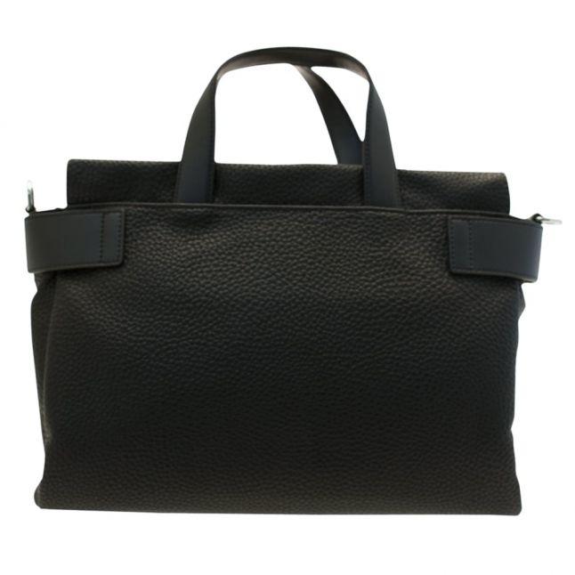 Womens Black Tumbled Tote Bag