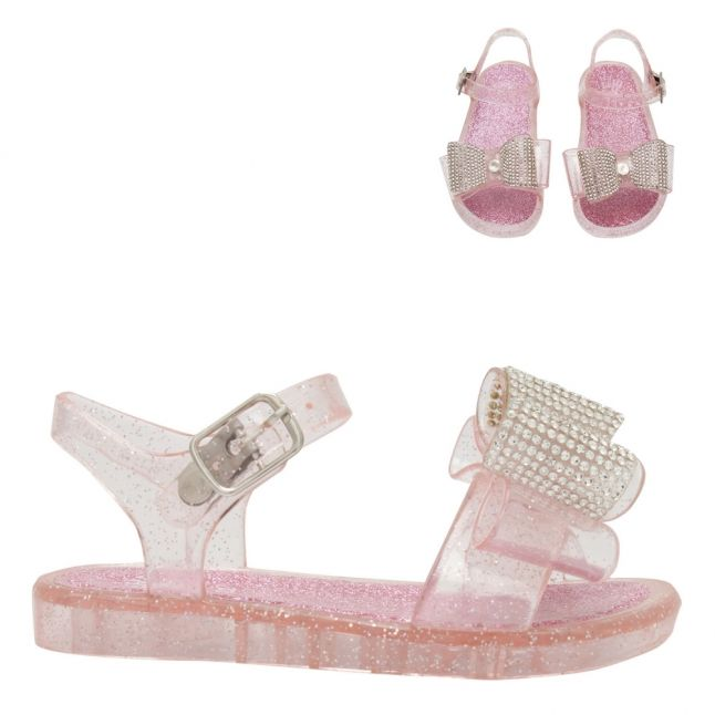 Baby Pink Bow Jelly Sandals (22-27)
