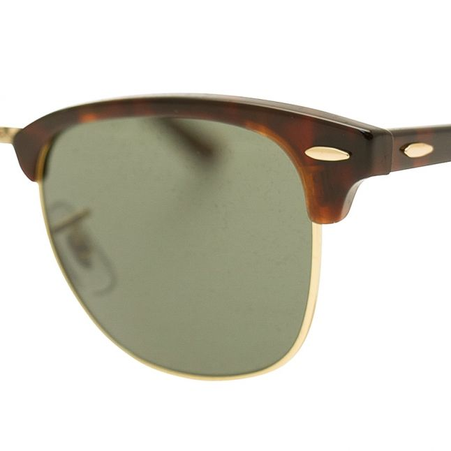 Tortiose/Arista/Green RB3016 Clubmaster Sunglasses