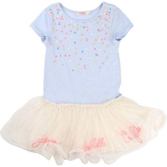 Girls Blue Sky Confetti Tutu Dress