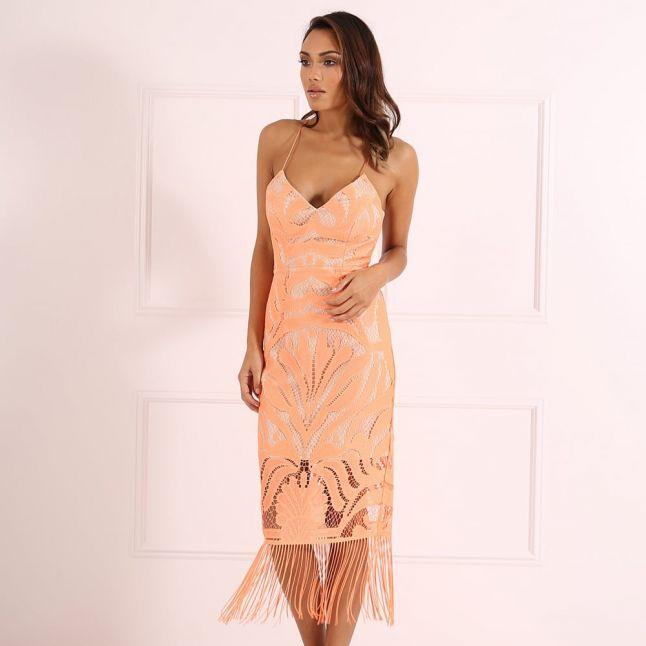 Womens Orange Maxine Dress