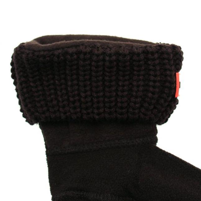 Kids Black Half Cardigan Wellington Socks (4-6 - 3-5)