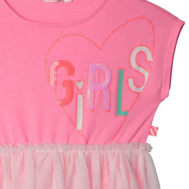 Girls Pink Girls Net Skirt Dress
