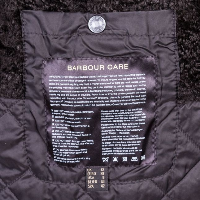 Heritage Womens Black Snow Bedale Waxed Jacket