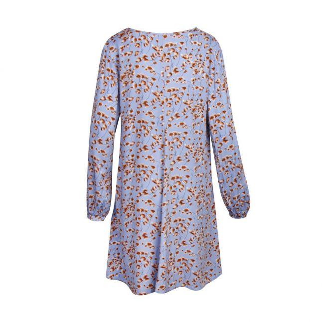 Womens Powder Blue Vitiki Floral Print Dress