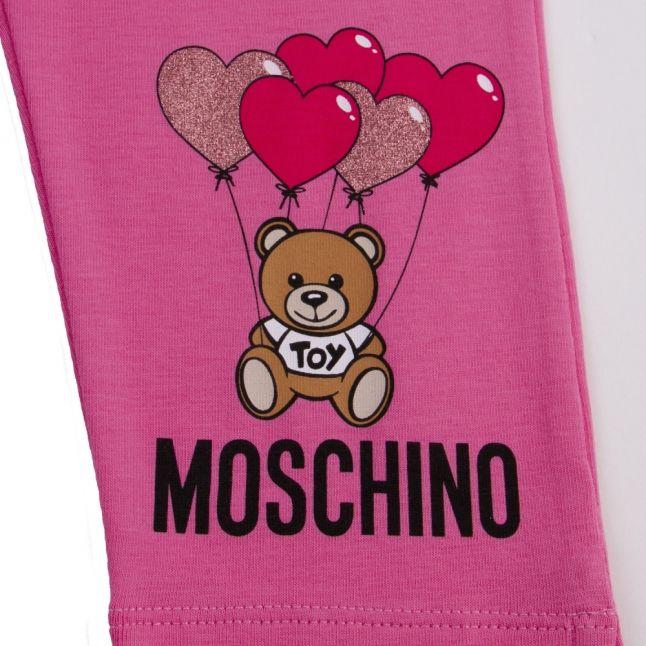 Girls Dark Pink Toy Balloon Leggings