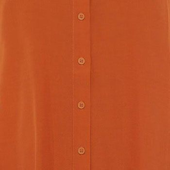 Womens Copper Sunset Ery Crepe Button Blouse
