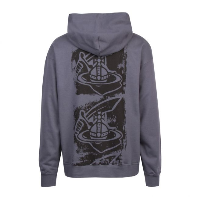 Anglomania Mens Grey Branded Back Print Hooded Sweat Top